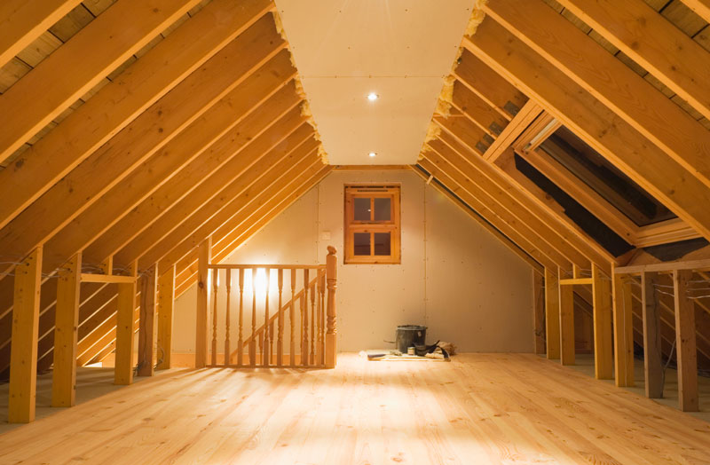 Remodeled attic