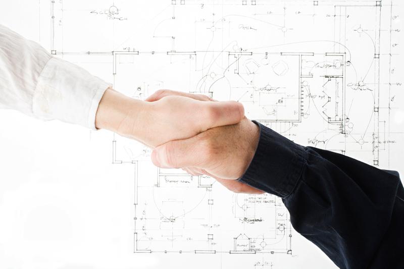 Handshake over a print